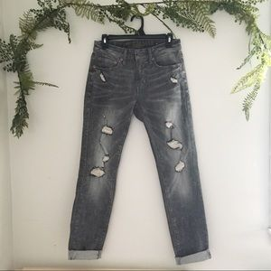 AE Distressed Faded Extreme Flex Skinny Jeans